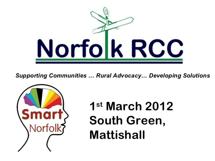 Supporting Communities … Rural Advocacy… Developing Solutions                       1st March 2012                       S...