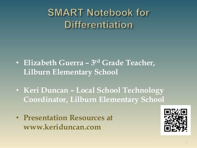 1 • Elizabeth Guerra – 3rd Grade Teacher, Lilburn Elementary School • Keri Duncan – Local School Technology Coordinator, L...