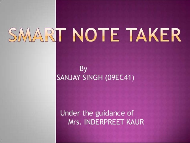 By SANJAY SINGH (09EC41) Under the guidance of Mrs. INDERPREET KAUR