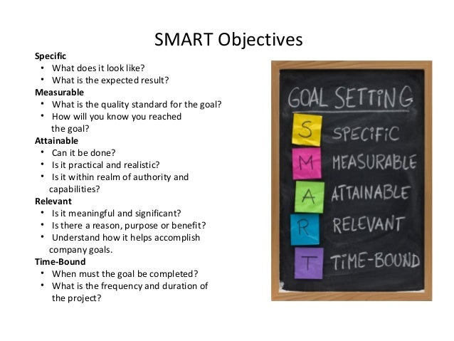 smart objective This guide provides samples of smart objectives for managers that they can use in the workplace we'll start by providing a brief introduction to the smart framework and then progress to sharing examples of smart objectives the samples of smart objectives for managers are for various types of managers, ranging from project managers to usability managers to event managers to customer support.