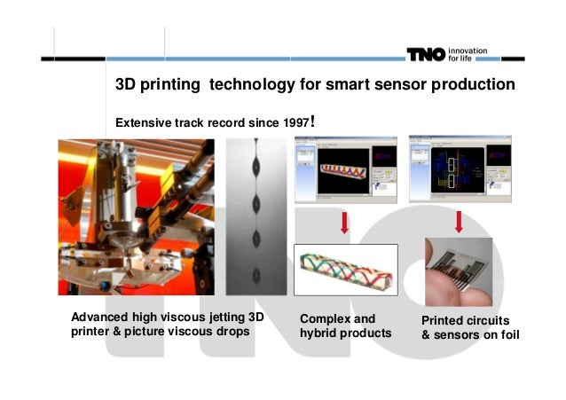 3D printing technology for smart sensor production Extensive track record since 1997!  Advanced high viscous jetting 3D pr...