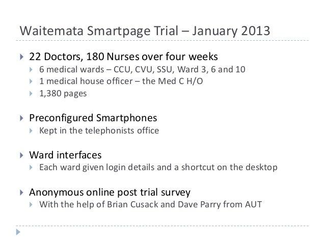 smartpage: North Shore Pilot Trial