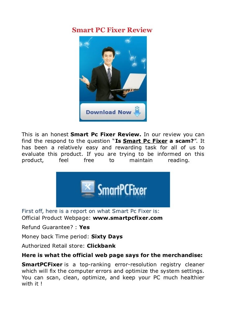 """Smart PC Fixer ReviewThis is an honest Smart Pc Fixer Review. In our review you canfind the respond to the question """"Is Sm..."""