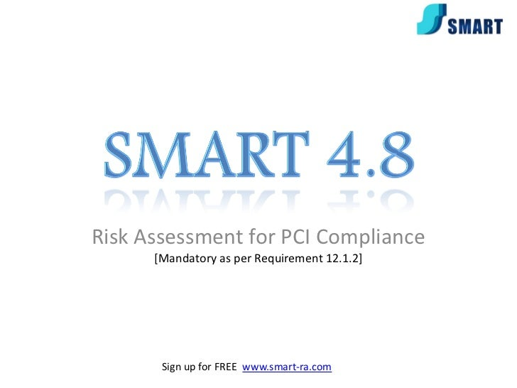 Risk Assessment for PCI Compliance      [Mandatory as per Requirement 12.1.2]                www.smart-ra.com