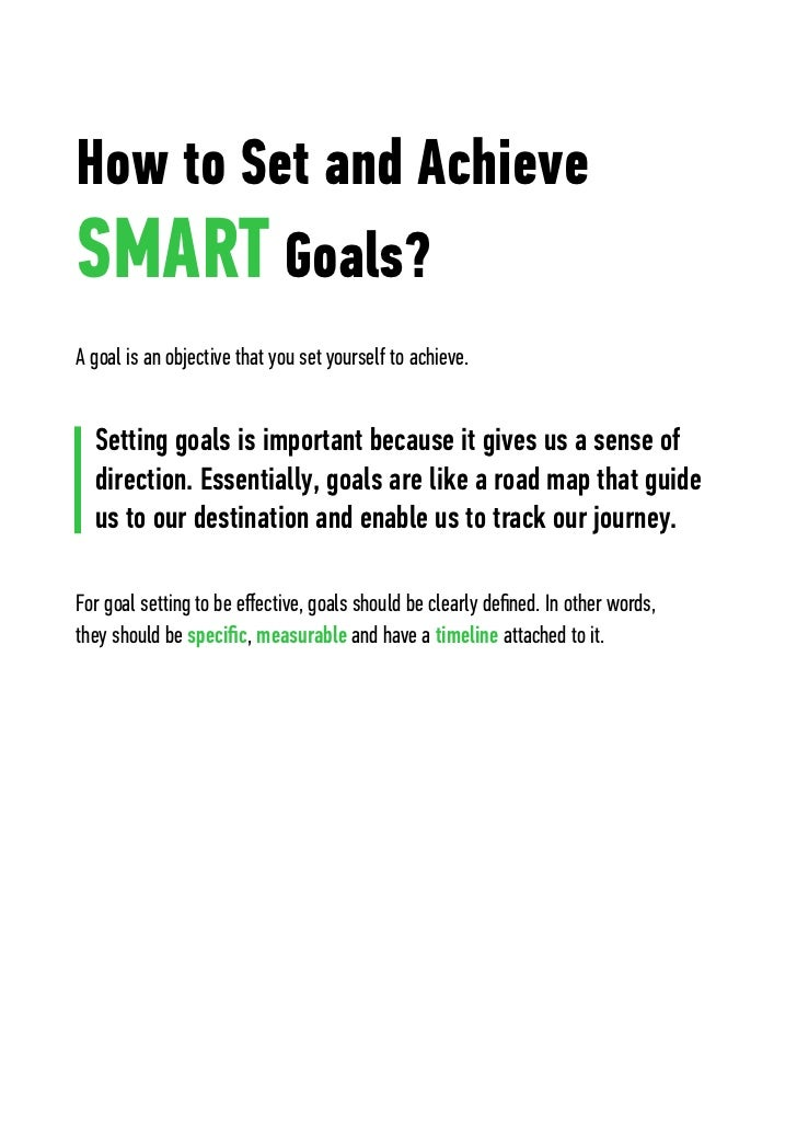 smart personal goals - Personal Objective