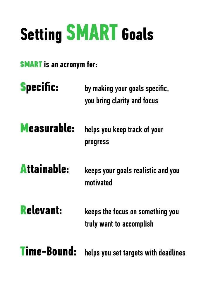 SMART Personal Goals