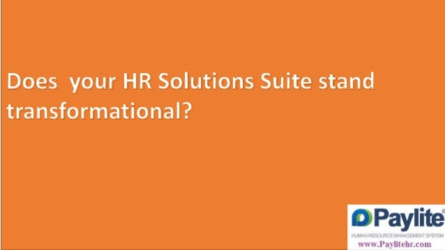 Does your HR Solutions Suite stand transformational?      1 .  _ 1 ',  3