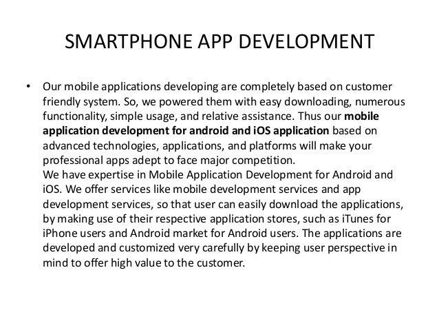 Smartphone app development Slide 2
