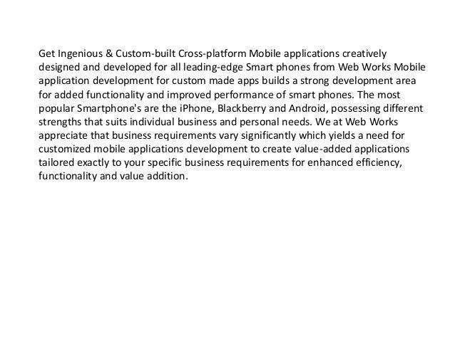 Smartphone app development Slide 3