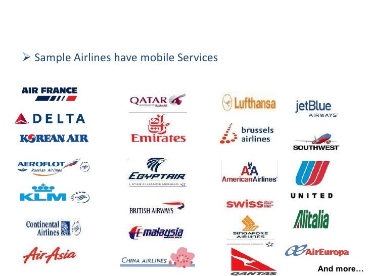 Smart Phone Amp Mobile Services In Airlines