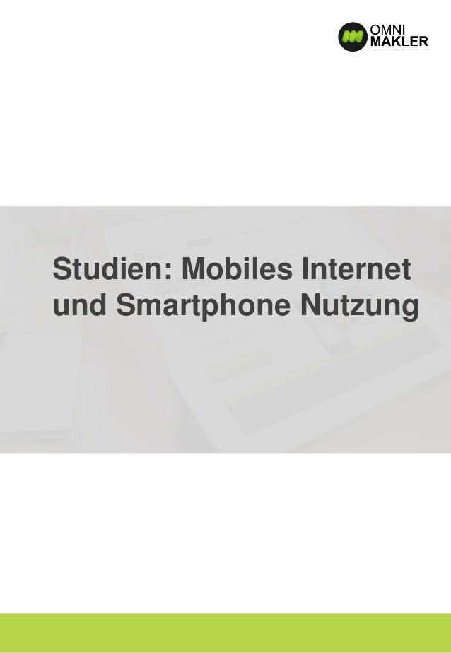 Studien: Mobiles Internet und Smartphone Nutzung