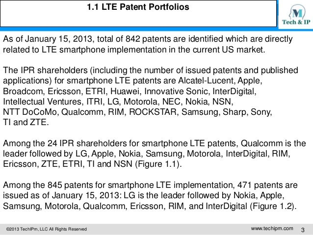 Smartphone Patents Issues Strategies