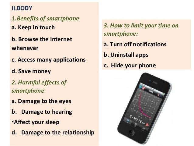 Smart phone public speaking presentation