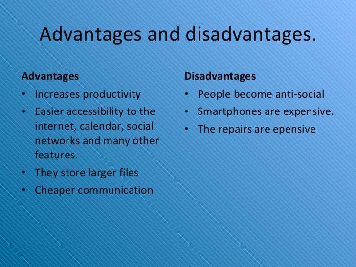 smartphone advantages and disadvantages essay