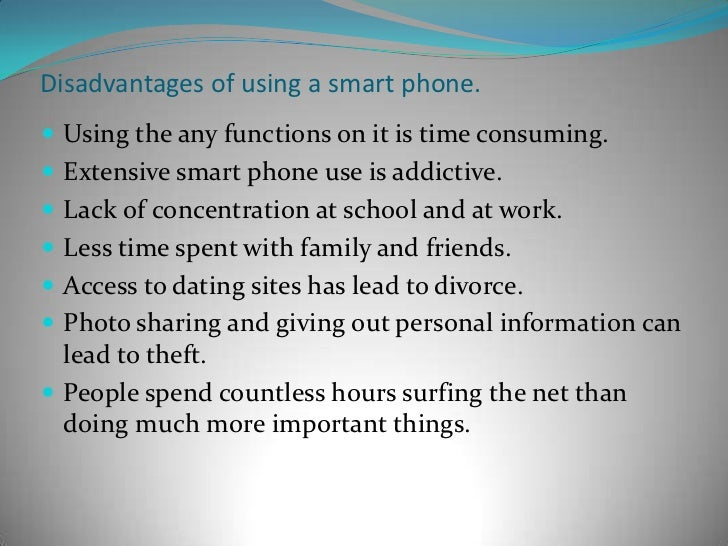 Advantage of smartphone essay
