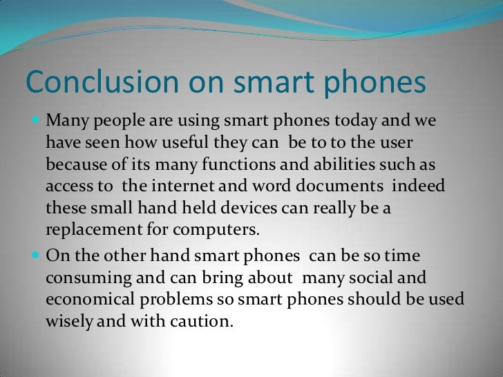 Use of mobile essay