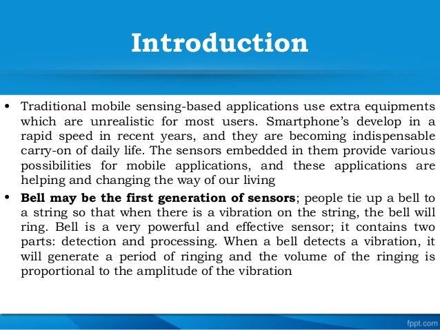 Smartphone sensor and gesture Slide 3