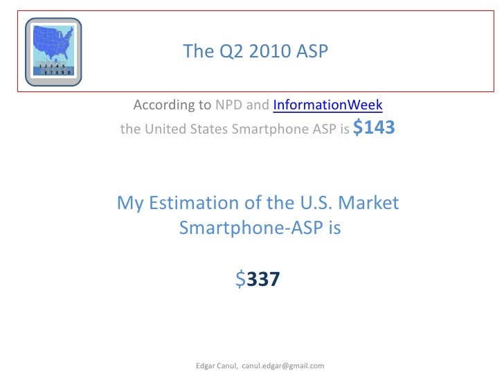 U S  Smartphone market analysis Q2 2010, creating Smartphone