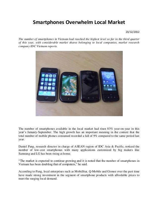 Smartphones Overwhelm Local Market                                                                                   23/12...