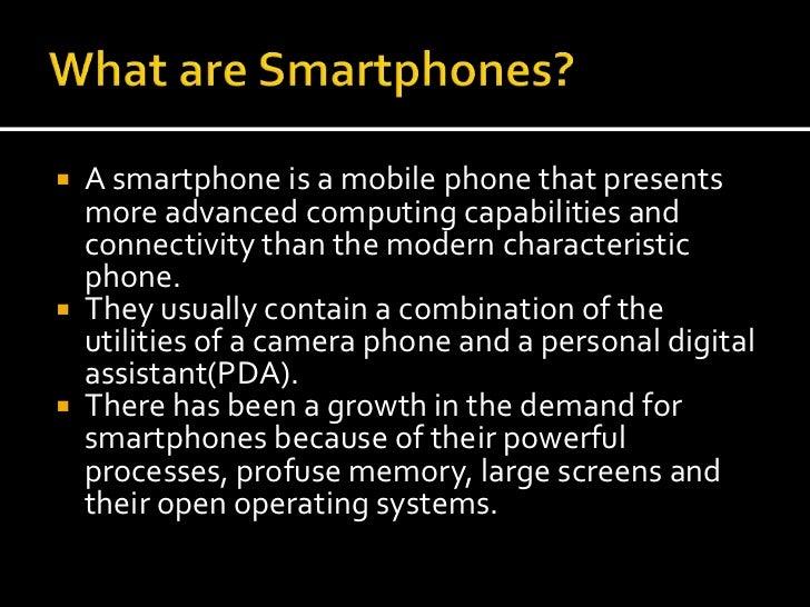 Smartphones presentation Slide 3