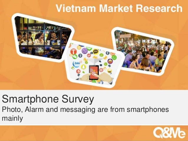 Your sub-title here Smartphone Survey Photo, Alarm and messaging are from smartphones mainly