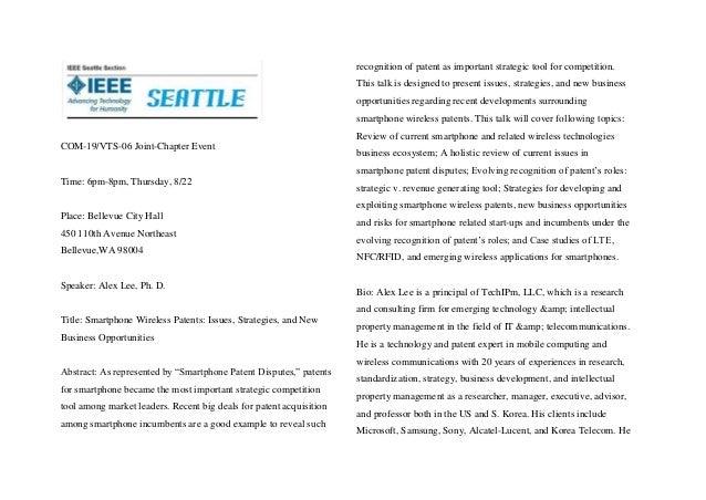 COM-19/VTS-06 Joint-Chapter Event Time: 6pm-8pm, Thursday, 8/22 Place: Bellevue City Hall 450 110th Avenue Northeast Belle...
