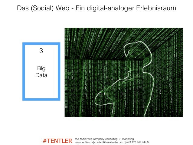 #TENTLER the social web company. consulting + marketing www.tentler.co   contact@franktentler.com   +49 173 444 444 6 Big ...