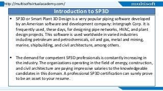 Smart Plan 3D (SP3D) Online Training Course