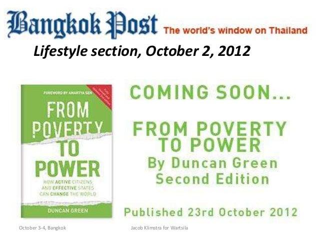 Lifestyle section, October 2, 2012October 3-4, Bangkok   Jacob Klimstra for Wartsila