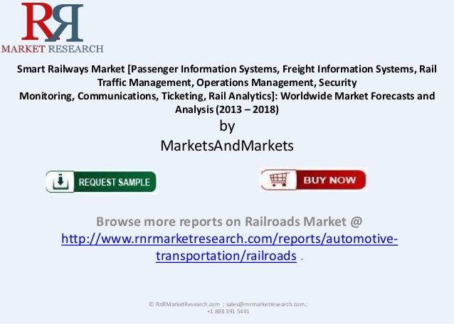Smart Railways Market [Passenger Information Systems, Freight Information Systems, Rail Traffic Management, Operations Man...