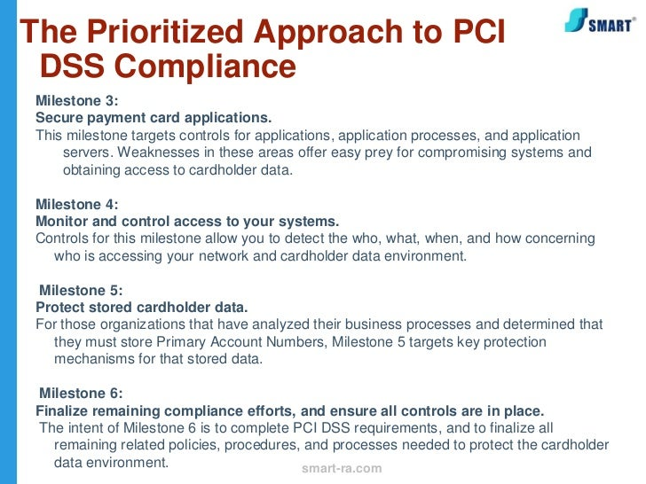 the prioritized approach to pci dss compliance