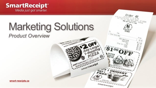 Marketing Solutions Product Overview  smart-receipts.ca  | Page 1