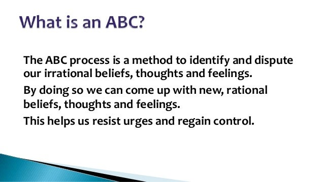The Abcs Smart Recovery