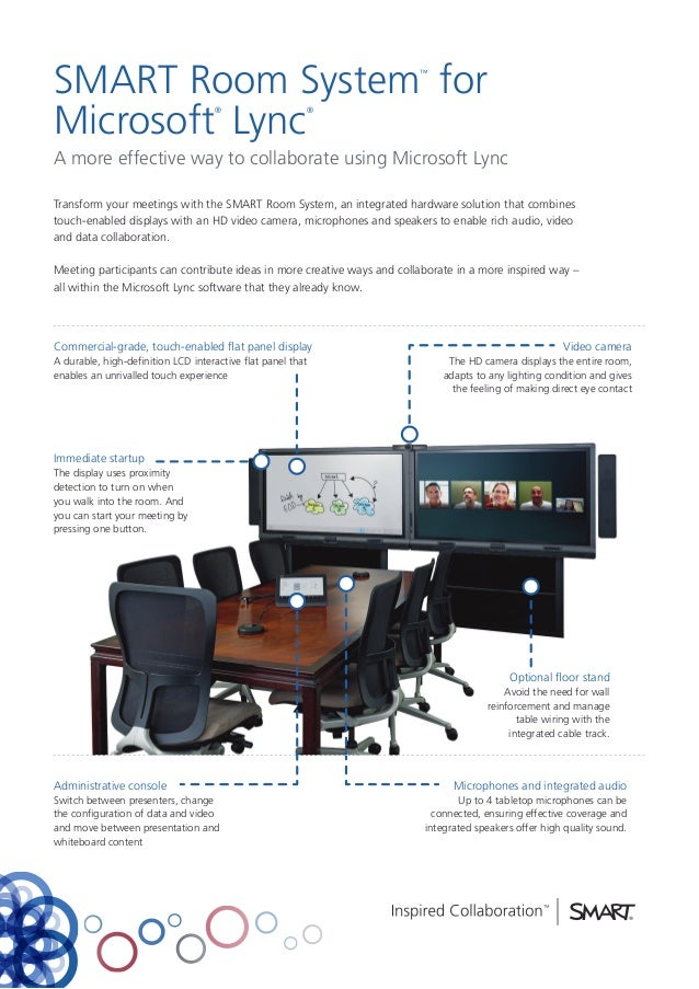 SMART Room System for Microsoft Lync ™  ®  ®  A more effective way to collaborate using Microsoft Lync Transform your meet...