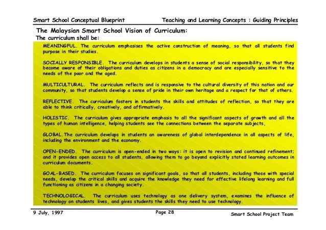 The malaysian smart school a conceptual blueprint guiding principles 28 smart school conceptual blueprint malvernweather Gallery