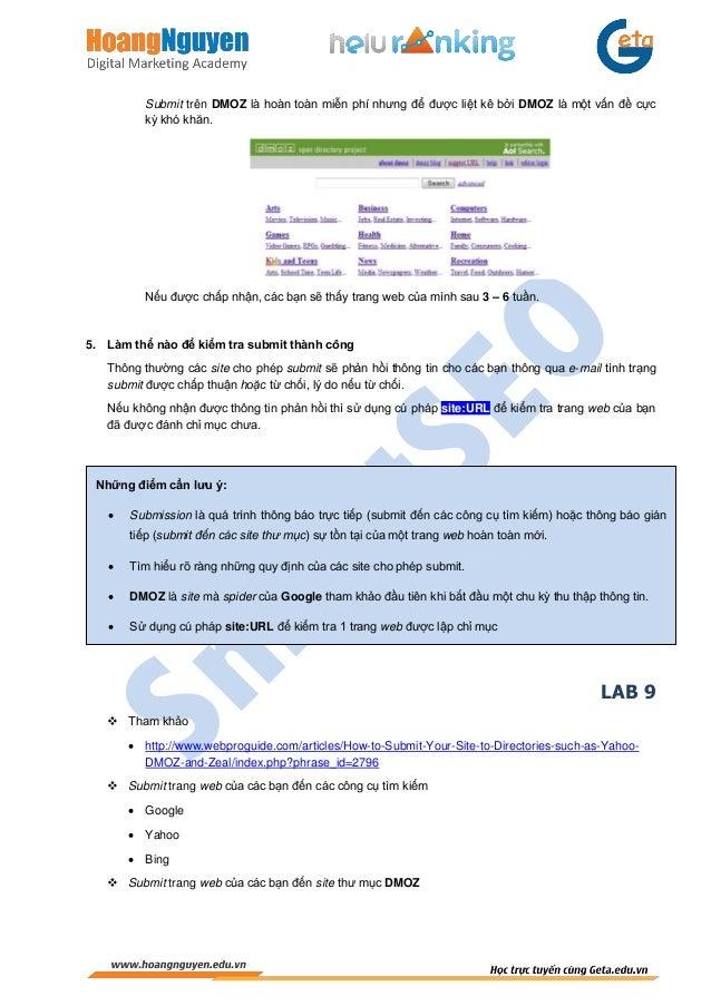SmartSEO-Chương 6: Tối Ưu Hóa Ngoài Trang Slide 3