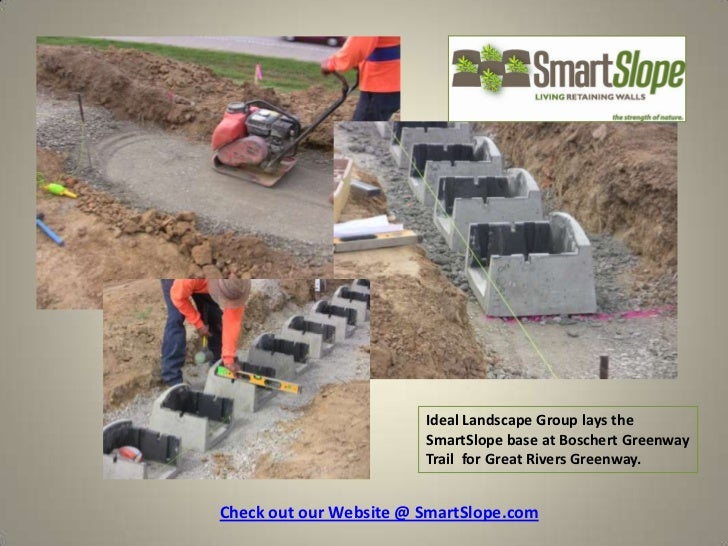 Ideal Landscape Group lays the                        SmartSlope base at Boschert Greenway                        Trail fo...
