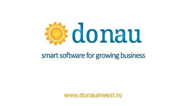 smartsoftwarefor growingbusiness www.donauinvest.ro