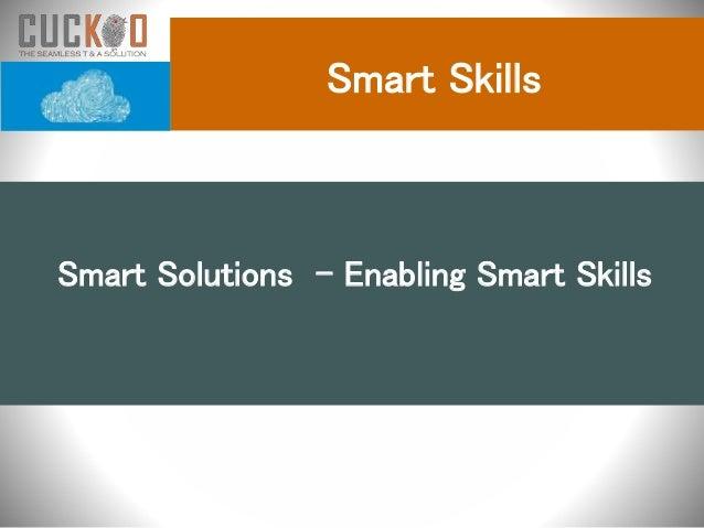 Smart Skills Smart Solutions - Enabling Smart Skills