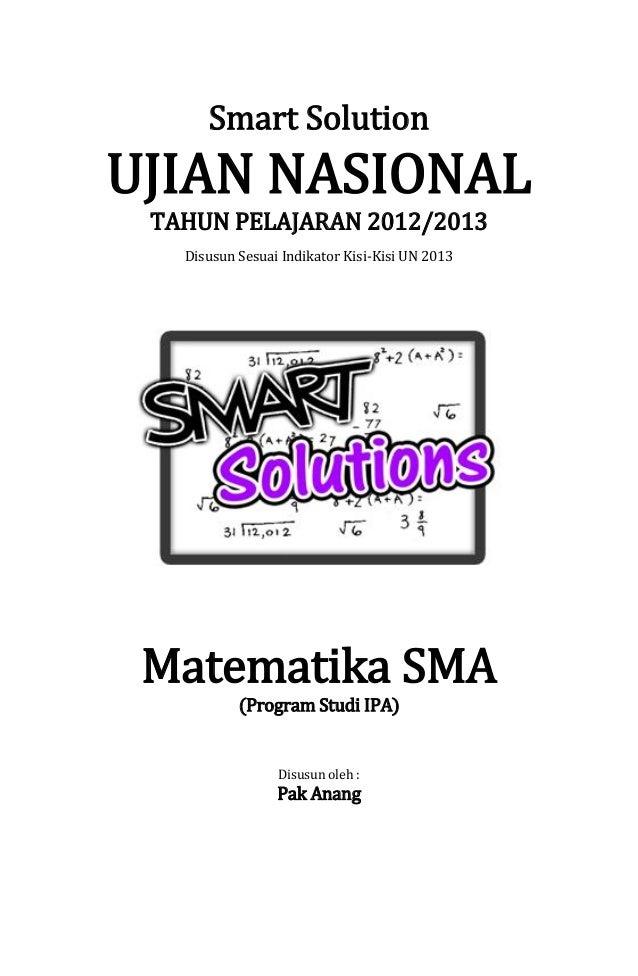 Smart Solution Un Matematika Sma 2013 Skl 2 8 Program Linear
