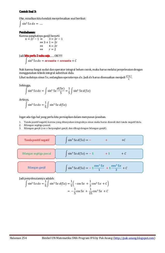 Smart Solution Un Matematika Sma 2013 Skl 5 Pengayaan Integral Trigo