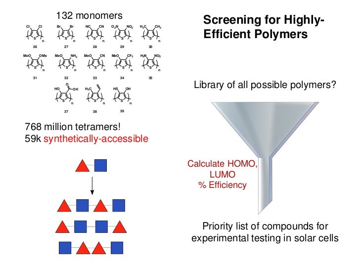 132 monomers                                                                       Screening for Highly- Cl        Cl     ...