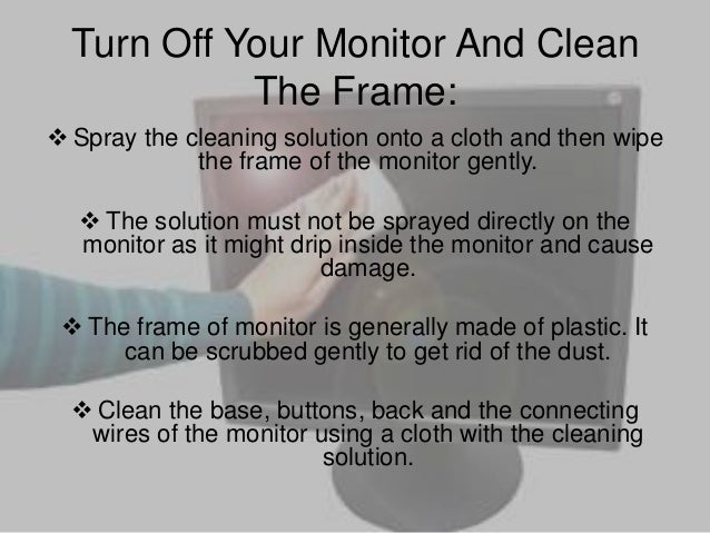 smart technology how to clean your computer monitor. Black Bedroom Furniture Sets. Home Design Ideas