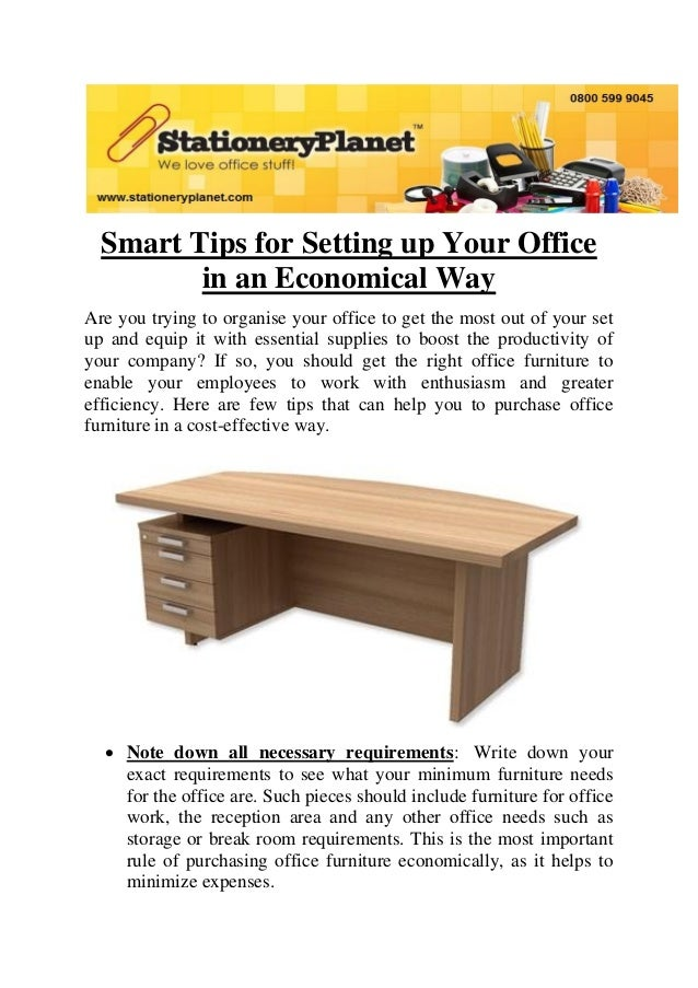 Smart Tips for Setting up Your Office in an Economical Way Are you trying to organise your office to get the most out of y...