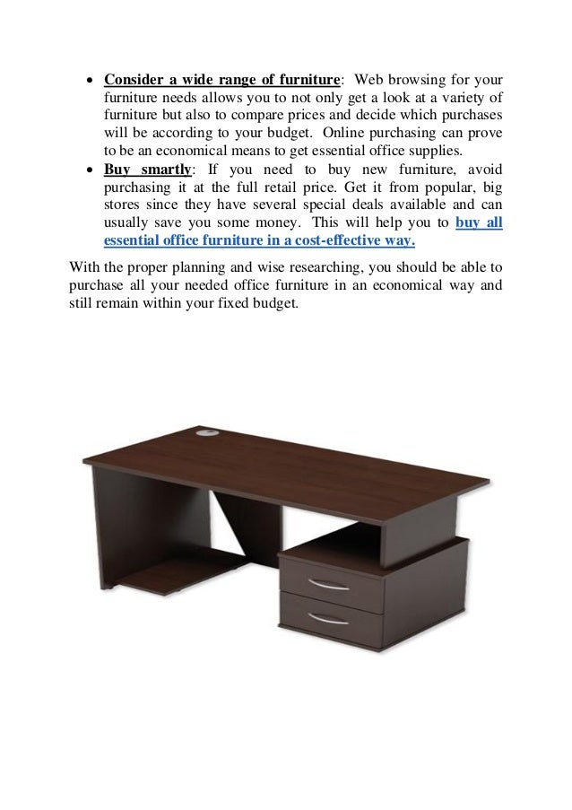 top tips to buy office furniture in an economical way. Black Bedroom Furniture Sets. Home Design Ideas