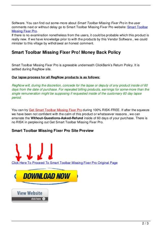 Smart toolbar missing fixer pro Slide 2