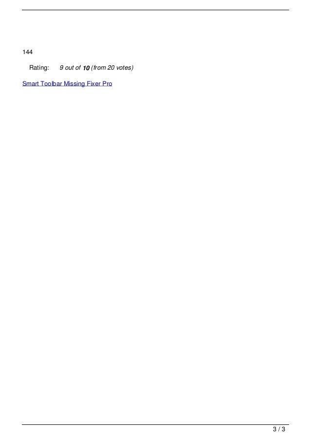 Smart toolbar missing fixer pro Slide 3