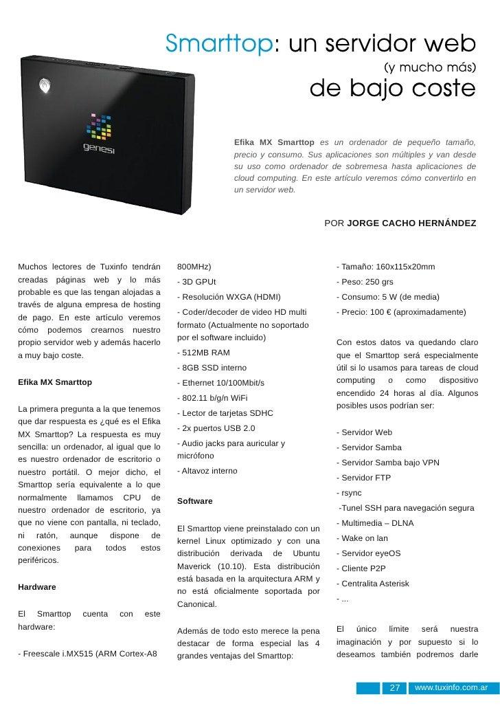 Smarttop: un servidor web                                                                                                (...