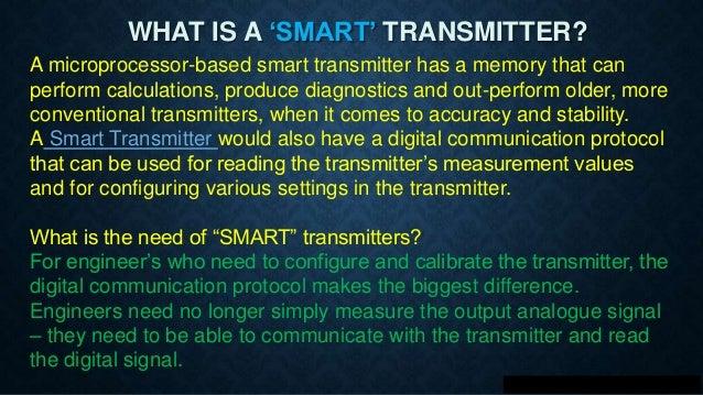 Smart transmitters & HART Protocol  Slide 2