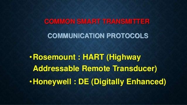 Smart transmitters & HART Protocol